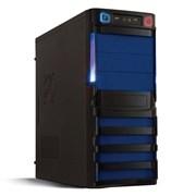 (1017805) Корпус Miditower CROWN CMC-SM162 USB3.0 black/blue ATX (CM-PS450W smart) USB3.0