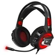 (1017813) Гарнитура игровая с подсветкой CROWN CMGH-3003 Black&orange (Подключение jack 3.5мм 4pin + адаптер 2*jack spk+mic + USB для подсветки,Частотный диапазон: 20Гц-20,000 Гц ,Кабель 3.2м, Динамки 50мм, регулировка громкости на чашке+пульте, мик