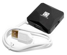 (1018303) Концентратор 5bites HB24-202BK 4*USB2.0 / USB 60CM / BLACK