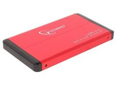"""(1018519) Внешний корпус 2.5"""" Gembird EE2-U3S-61, красный металлик, USB 3.0, SATA, нержавеющая сталь"""