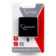 (1018846) Концентратор USB 2.0 Gembird UHB-242, 4 порта, блистер, черный
