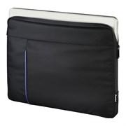 """(1018920) Чехол для ноутбука 15.6"""" Hama Cape Town черный/синий полиэстер (00101906)"""