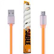 (1019119) USB кабель micro REMAX Colourful RC-005m (1m) orange