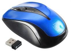 (1019057) Мышь Oklick 675MW черный/синий оптическая (800dpi) беспроводная USB (2but)