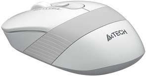(1019049) Мышь A4 Fstyler FG10 белый/серый оптическая (2000dpi) беспроводная USB (4but)