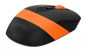 (1019048) Мышь A4 Fstyler FG10 черный/оранжевый оптическая (2000dpi) беспроводная USB (4but)