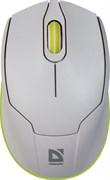 (1019026) Мышь беспроводная USB OPTICAL WRL GENESIS MB-865 WH/GREEN 52867 DEFENDER