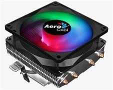 (1019343) Кулер CPU Aerocool Air Frost 4 (универсальный, 125W, 25.7 dB, 1800 rpm, 90мм, 3pin, подсветка, медь+ алюминий) RTL