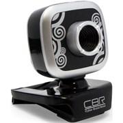 (1019356) CBR Веб-камера CW-835M Silver, универс. крепление, 4 линзы, 1,3 МП, эффекты, микрофон