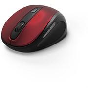 (1019608) Мышь Hama MW-400 красный оптическая (1600dpi) беспроводная USB для ноутбука (6but)