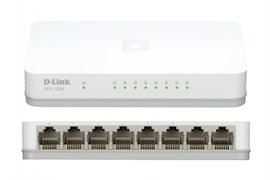 (1019630) D-Link DGS-1008A/D2A Неуправляемый коммутатор с 8 портами 10/100/1000 Base-T и функцией энергосбережения
