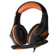 (1019664) Гарнитура игровая CROWN CMGH-2003 Black&orange (Подключение jack 3.5мм 4pin + адаптер 2*jack spk+mic,Частотный диапазон: 20Гц-20,000 Гц ,Кабель 3.2м, Динамки 50мм, регулировка громкости, микрофон на поворотной ножке)