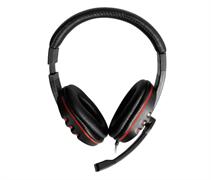(1019677) Наушники с микрофоном Oklick HS-L380G ABBADON черный/красный 1.8м мониторные (JD-032)