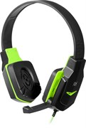 (1019714) Гарнитура WARHEAD G-320 BLACK/GREEN 64032 DEFENDER