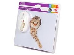 (1019781) CBR Capture USB, Мышь сувенирная+ коврик, 1200 dpi, рисунок
