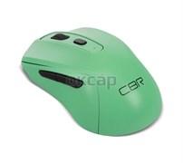 """(1019783) CBR CM 522 Mint, Мышь беспроводная, оптическая, 2,4 ГГц, 800/1200/1600 dpi, 6 кнопок и колесо прокрутки, технология """"бесшумный клик"""", ABS-пластик, цвет мятный"""