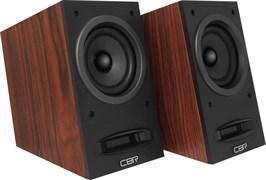 (1019791) CBR CMS 590 Brown, Акустическая система 2.0, питание USB, 2х5 Вт (10 Вт RMS), материал корпуса MDF, 3.5 мм линейный стереовход, регул. громк., выход на наушники, длина кабеля 1,5 м, цвет коричневый