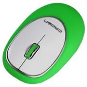 (1003371) Силиконовая беспроводная мышь CROWN CMM-931W (green)