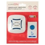 (1017048) Беспроводной дверной звонок LuazON LZDV-29, Премиум, база от 2 АА, 1 кнопка от LR23A, микс    286299