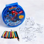 """(1016362) Набор для рисования """"Самый быстрый"""" Человек-паук 20 предметов 4038079"""