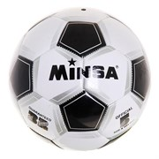 (1020749) Мяч футбольный MINSA CLASSIC р.5, 32 панели,PVC, 3 под слоя, машин сшивка 320 гр 240375
