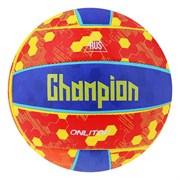 (1020755) Мяч волейбольный ONLITOP Champion р.5, 18 панелей,маш.сшивка, 260 гр, цвет желто-синий