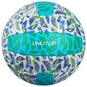 (1020765) Мяч волейбольный, пляжный ONLITOP р.5, 275 гр, 2 подслоя, 18 панелей, PVC, камера бутил   4166918
