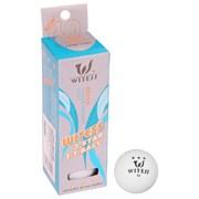 (1020800) Мяч для настольного тенниса WITESS 3*** (набор 3 шт), цвет белый 534821
