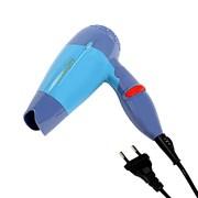 (1020458) Фен для волос LuazON LF-23, 800 Вт, 2 скорости, складная ручка, голубой 2541854