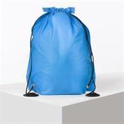 (1020882) Сумка мешок для обуви флизелин , 35*40см, на шнурке, синий 169312