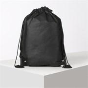 (1020883) Сумка мешок для обуви флизелин , 35*40см, на шнурке, чёрный 169313