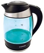 (1020368) Чайник Starwind SKG2219 1.8л. 2200Вт бирюзовый/черный (стекло)