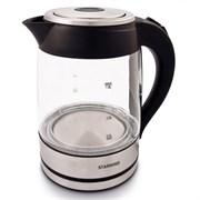 (1020369) Чайник Starwind SKG4710 1.8л. 2200Вт серебристый/черный (стекло)