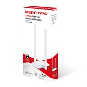 (1020410) Сетевой адаптер WiFi Mercusys MW300UH N300 USB 2.0 (ант.внеш.несъем.) 2ант.