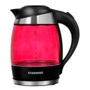 (1018694) Чайник Starwind SKG2214 1.8л. 2200Вт малиновый (стекло)