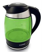 (1018638) Чайник Starwind SKG2213 1.8л. 2200Вт зеленый/черный (стекло)