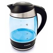 (1018640) Чайник Starwind SKG2218 1.8л. 2200Вт голубой/черный (стекло)