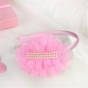 """(1020939) Ободок для волос """"Выпускница"""" 0,5 см, бусины, розовый   4729601"""