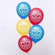 """(1020936) Воздушные шары """"Spider-man"""", Человек-паук, 12 дюйм (набор 5 шт)   5076687"""