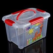 """(1021263) Контейнер для игрушек 5,5 л """"Детское творчество"""", цвет прозрачный   3300647"""