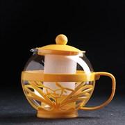 (1021296) Чайник заварочный 750 мл, цвета жёлтый 4987590