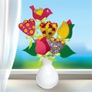 """(1021367) Набор для создания букета из фетра """"Тюльпаны"""" + игла, нитки, лента   3314684"""