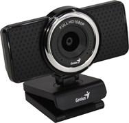 (1021629) WEB камера Genius ECam 8000 Черная {1080p Full HD, вращается на 360°, универсальное крепление, микрофон, USB}