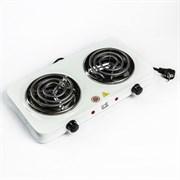 (1021837) Плитка электрическая Irit IR-8120, 2000 Вт, 2 конфорки, белая 191534