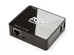 (1021971) Портативный маршрутизатор AgeStar WLB6, 3х USB порта, LAN порт.