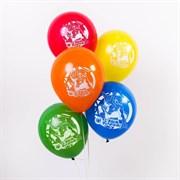 """(1022858) Воздушные шары """"С днем рождения"""" Человек Паук (набор 5 шт) 12 дюйм 1175603"""