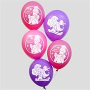 """(1022873) Шар воздушный 12"""" """"С Днем рождения! Принцессы"""", Disney, 5 шт 3719622"""