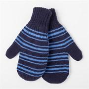 (1022752) Варежки для мальчика двойные М 514, синий/голубой, размер 14, 100% акрил   4529137