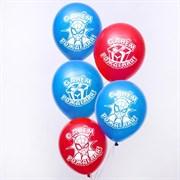 """(1022892) Воздушные шары """"С Днем Рождения"""", Человек-паук (набор 5 шт) 12 дюйм   4822760"""