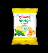 (1022972) Леденцовая карамель с витамином С со вкусом  ЛИМОНА С МЯТОЙ, 60г.